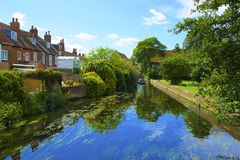 Flod Stour i Canterbury, UK Fotografering för Bildbyråer