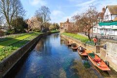 Flod Stour på Canterbury Royaltyfri Foto