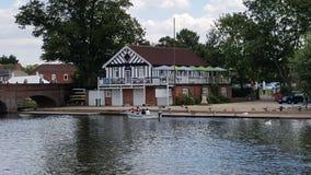 Flod Stratford på Avon Shakespeare arkivfoton