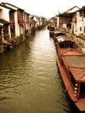 flod suzhou Royaltyfri Bild