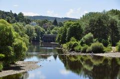 Flod Tay Perth Scotland Arkivfoton