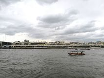 flod thailand för bangkok chaopraya Royaltyfria Foton