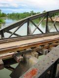 flod thailand för brokanchanaburikwai Arkivfoton