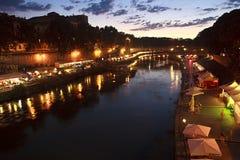 flod tiber Arkivbilder