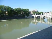 Flod Tiber i Rome arkivfoto