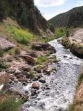 Flod till och med berg royaltyfri foto