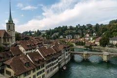 Flod till och med Bern Royaltyfri Foto