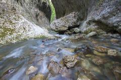 Flod till och med en kanjon Arkivfoton
