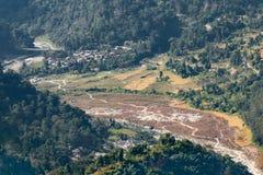 Flod Tista, Sikkim, Indien Arkivfoto