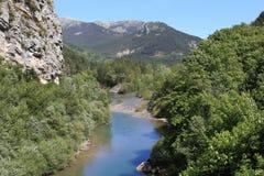 Flod Verdon i Provence Royaltyfri Foto