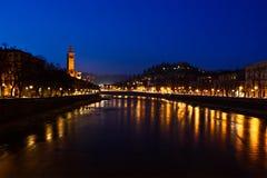 flod verona Royaltyfria Foton