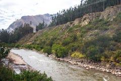 Flod Vilcanota - drevritten till Machu Picchu Royaltyfri Bild
