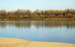 flod vistula Arkivfoton