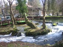 Flod Vrelo nära Bajina Basta royaltyfria bilder
