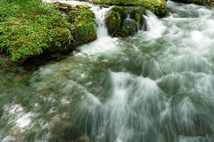 Flod Vrelo, rätt som är skattskyldig av floden Drina arkivbilder
