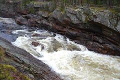 Flod Vuoksa i Imatra, Finland Fotografering för Bildbyråer
