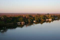 flod zambezi Royaltyfri Fotografi