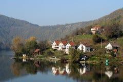 Flod Zapadna Morava, Serbien royaltyfria bilder