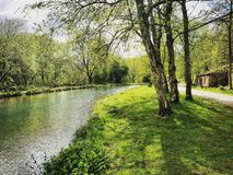 Flodbank Royaltyfri Fotografi