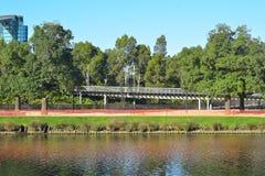 Flodbank i Melbourne royaltyfria foton