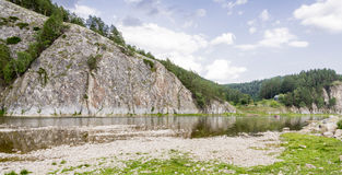 FlodBelaya rafting Fotografering för Bildbyråer