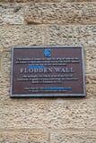 Flodden墙壁匾在爱丁堡 免版税库存照片
