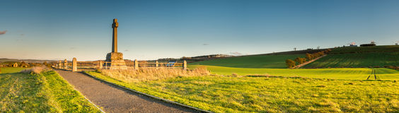 Flodden领域全景 库存图片