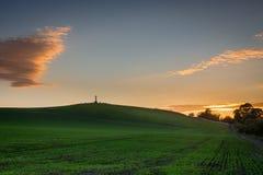 Flodden-Feld bei Sonnenuntergang Lizenzfreies Stockfoto
