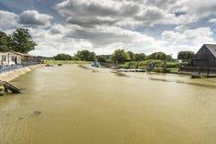Floden Arun Arundel West Sussex Arkivfoto