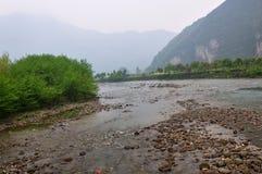 Floden av det Fanjing berget Arkivbild