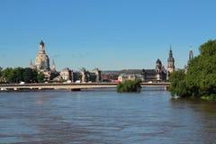 Floden av Dresden Elbe royaltyfri foto