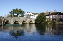 Floden Avon på Christchurch i Dorset Royaltyfria Bilder