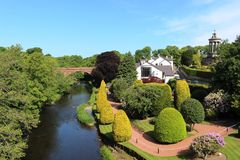 Floden Doon, arbeta i trädgården och bränner minnesmärken, Alloway Royaltyfri Fotografi