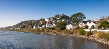 Floden Elbe på Blankenese, Hamburg Arkivbild