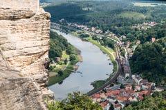 Floden Elben i Tyskland Arkivfoto