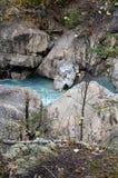 Floden faller förutom guld-, Kanada royaltyfria bilder