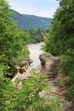 Floden i den Hajokh klyftan Arkivfoto
