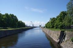 Floden i parkera royaltyfri foto