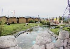 Floden i Sochi parkerar Arkivfoton