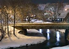 Floden i staden Royaltyfria Bilder