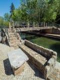 Floden i staden Arkivbild