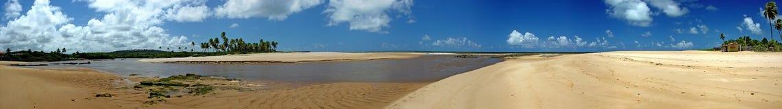 floden kör havet royaltyfria bilder