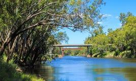 Floden landskap Fotografering för Bildbyråer