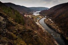 Floden landskap Royaltyfri Fotografi