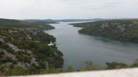 Floden landskap Royaltyfria Foton
