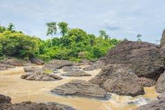 Floden och stora vaggar Fotografering för Bildbyråer