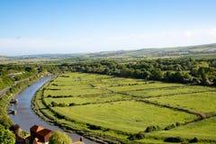 Floden Ouse på Lewes Arkivbild