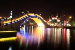 Floden på natten Royaltyfria Bilder