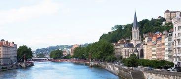 Floden Rhone, Lyon Royaltyfri Fotografi