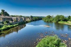 Floden södra Tyne på Haydon Bridge, Northumberland Arkivfoto